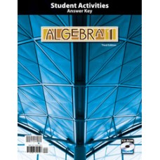 G9 Algebra 1 Student Activities Answer Key with CD-270645  3rd ed.
